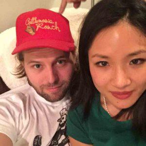 Constance Wu Taking Selfie with her boyfriend