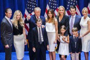 Eric Trump and Lara Yunaska and thier family