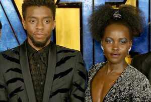 Chadwick Boseman and Lupita Nyongo