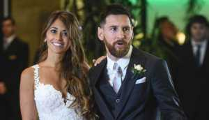 Lionel Messi And Antonella Roccuzzo's wedding